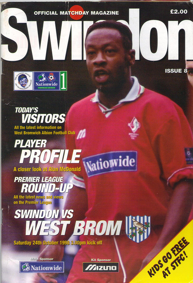 Saturday, October 24, 1998 - vs. West Bromwich Albion (Home)
