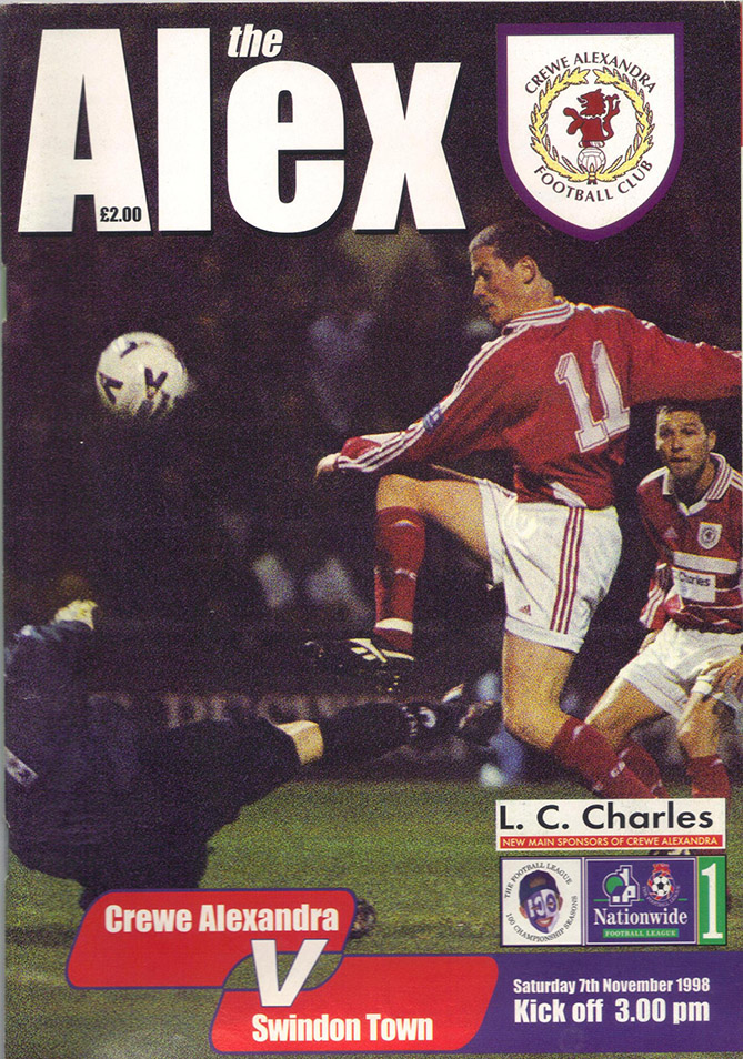 Saturday, November 7, 1998 - vs. Crewe Alexandra (Away)