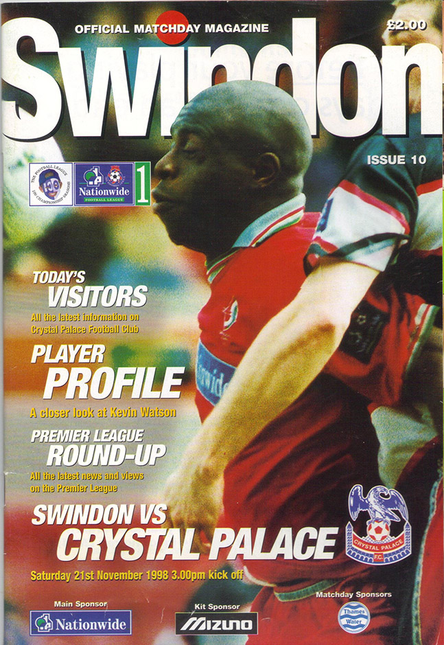 Saturday, November 21, 1998 - vs. Crystal Palace (Home)