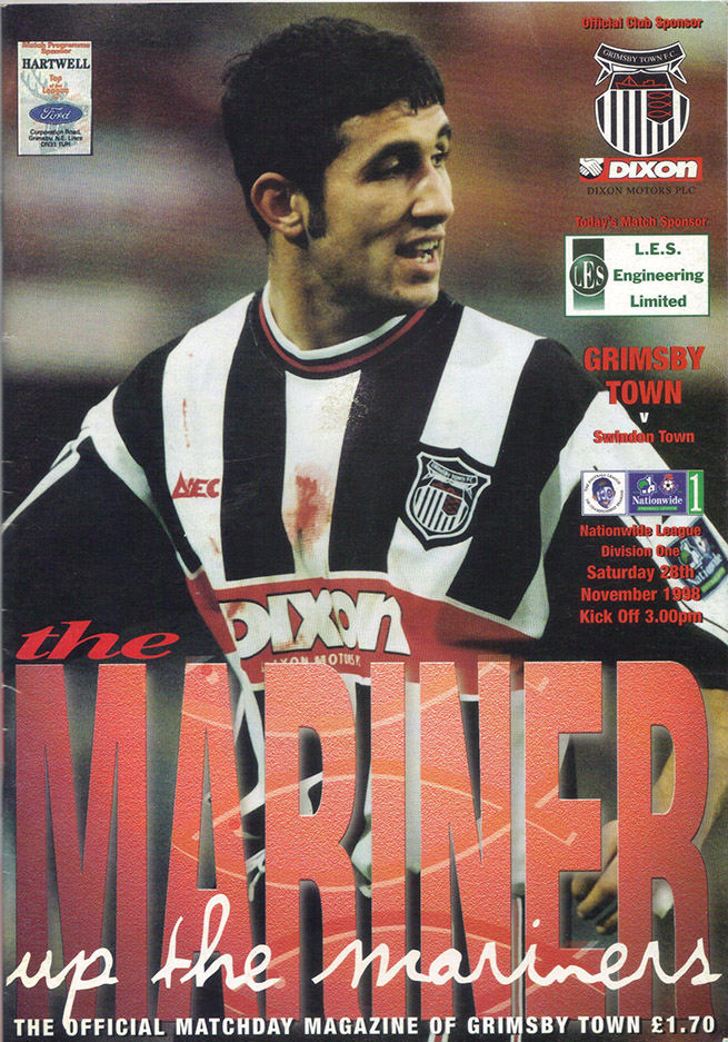Saturday, November 28, 1998 - vs. Grimsby Town (Away)