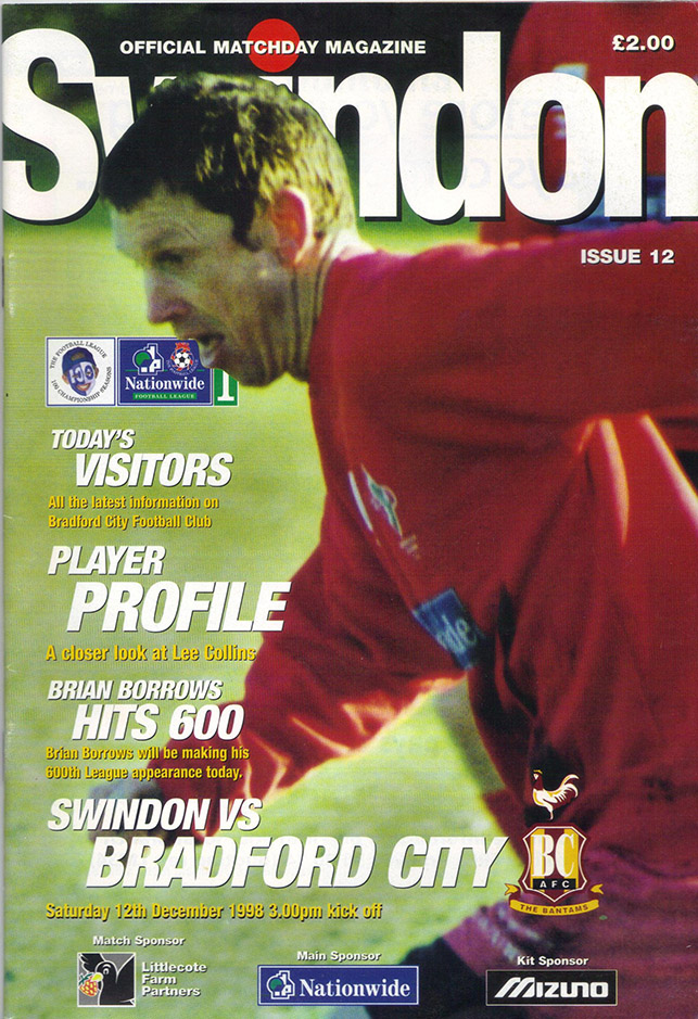 Saturday, December 12, 1998 - vs. Bradford City (Home)