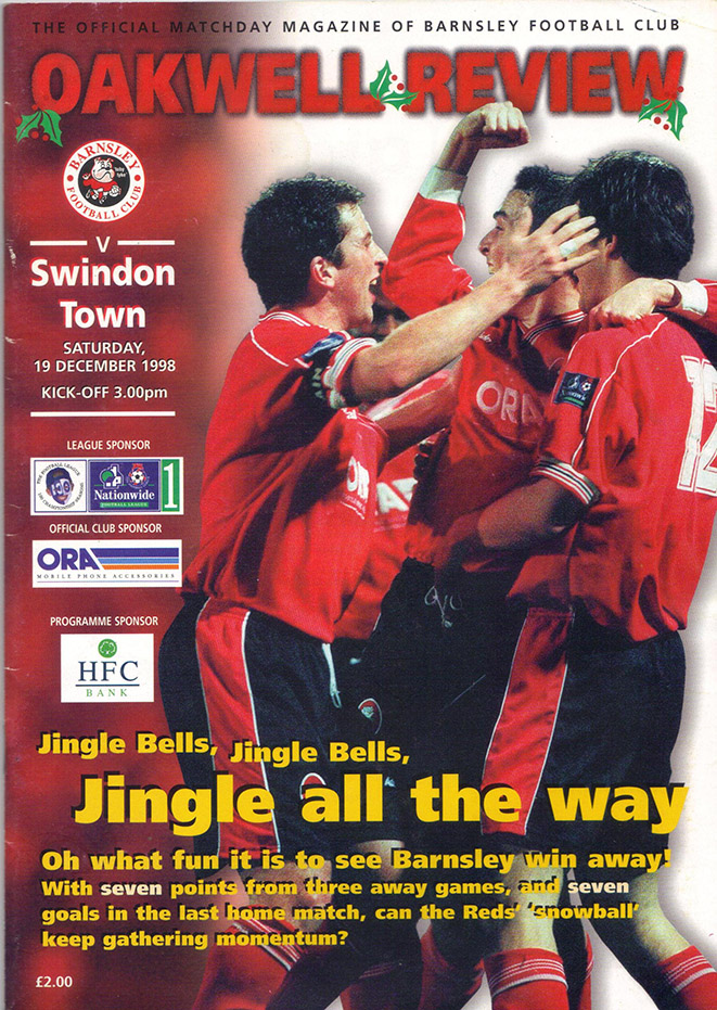 Saturday, December 19, 1998 - vs. Barnsley (Away)