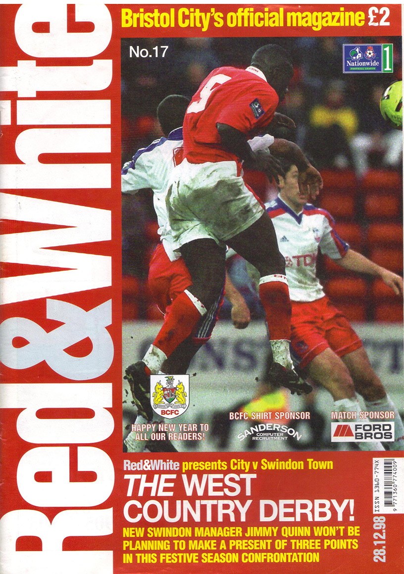 Monday, December 28, 1998 - vs. Bristol City (Away)