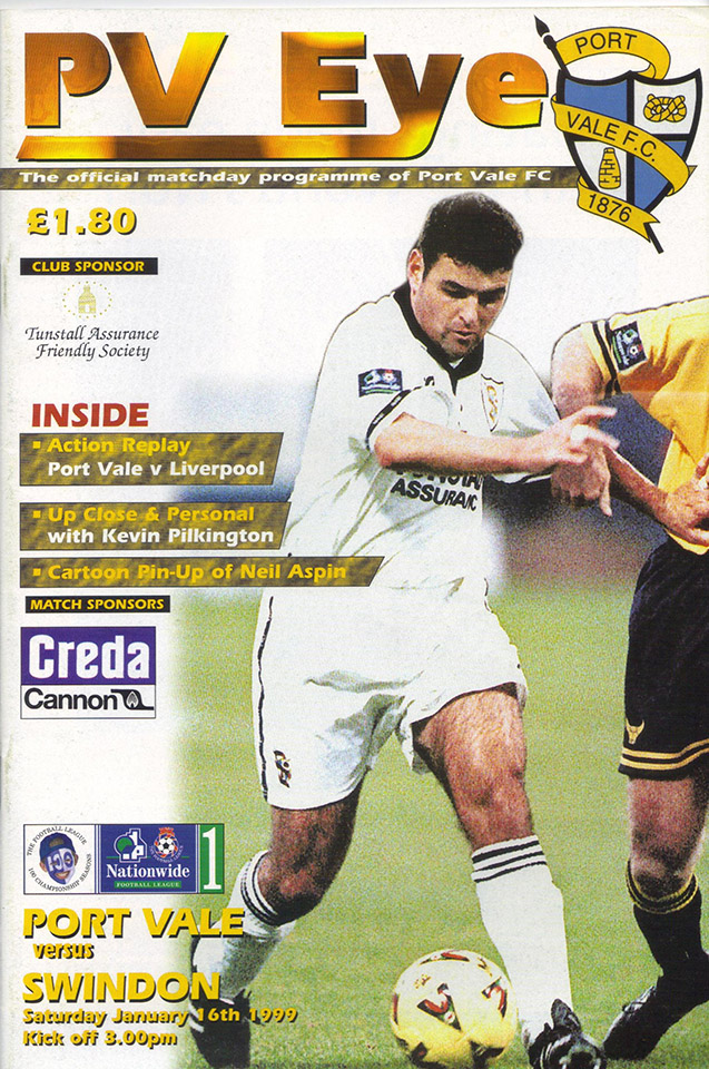 Saturday, January 16, 1999 - vs. Port Vale (Away)