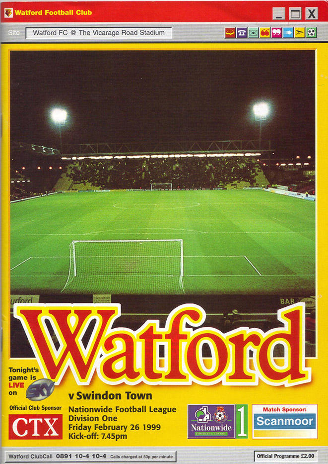 Friday, February 26, 1999 - vs. Watford (Away)