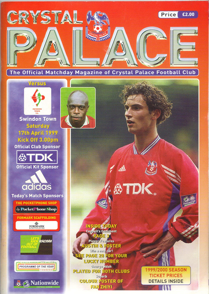 Saturday, April 17, 1999 - vs. Crystal Palace (Away)