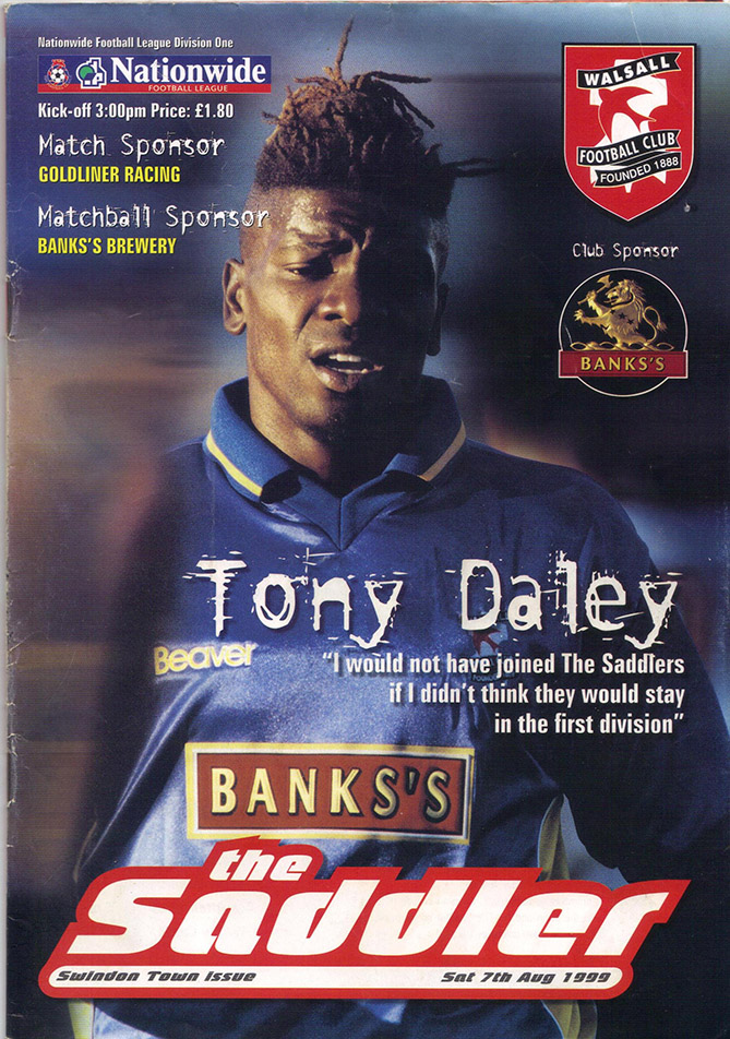 Saturday, August 7, 1999 - vs. Walsall (Away)