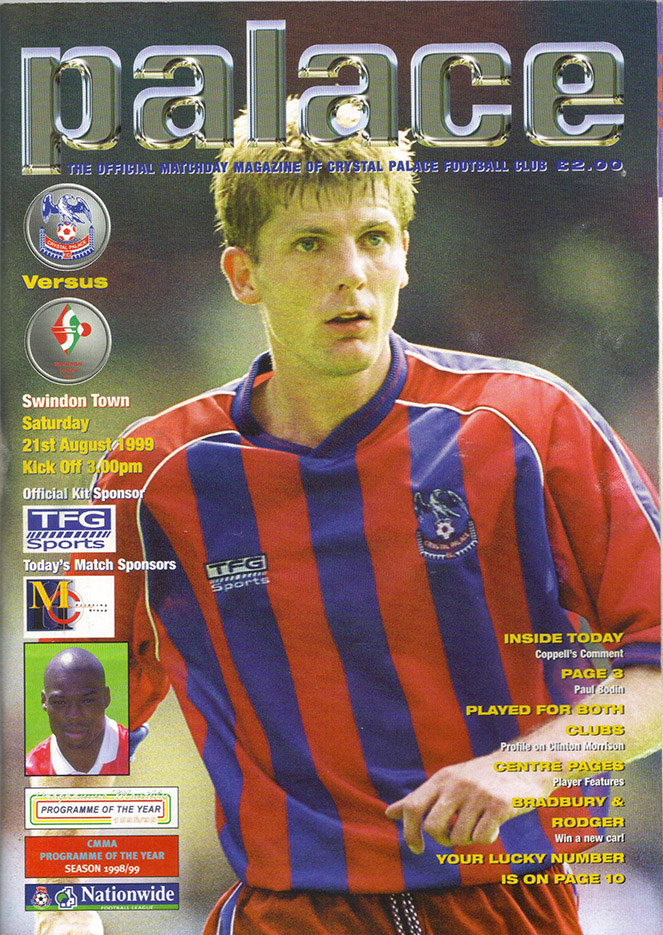 Saturday, August 21, 1999 - vs. Crystal Palace (Away)