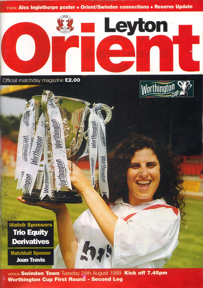 Wednesday, August 25, 1999 - vs. Leyton Orient (Away)