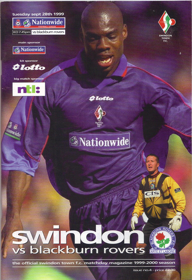 Tuesday, September 28, 1999 - vs. Blackburn Rovers (Home)