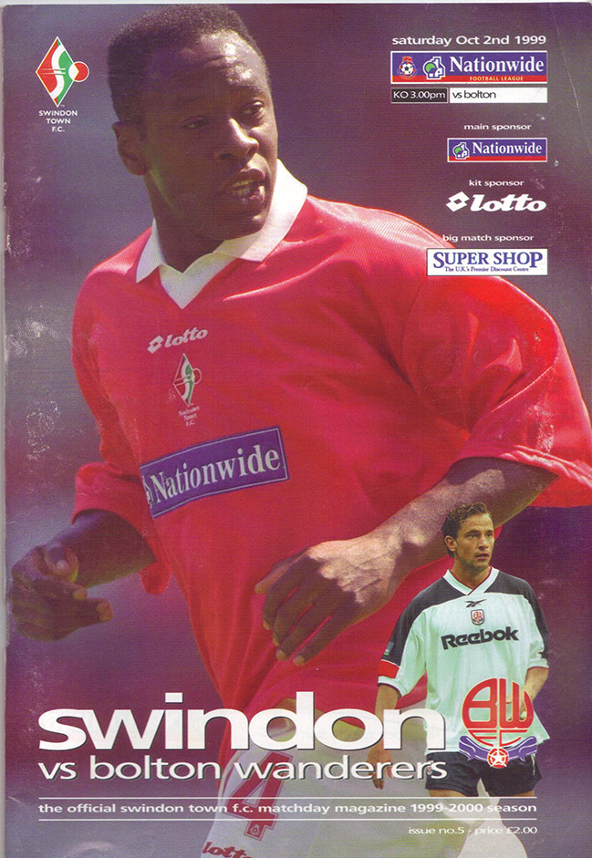 Saturday, October 2, 1999 - vs. Bolton Wanderers (Home)