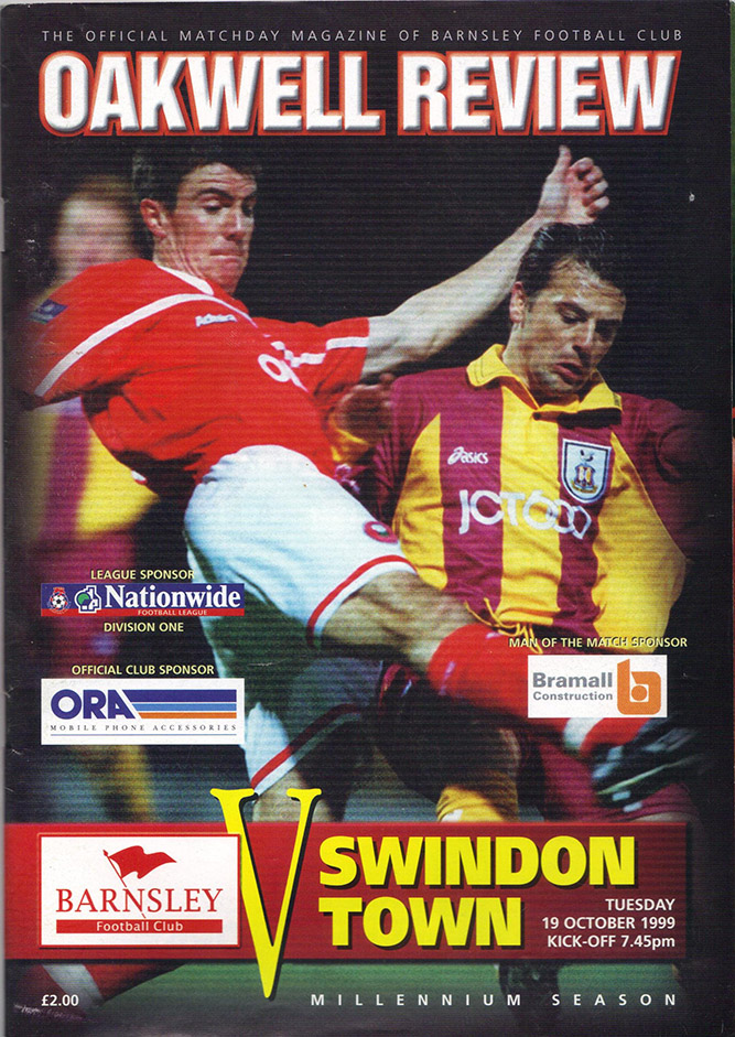 Tuesday, October 19, 1999 - vs. Barnsley (Away)