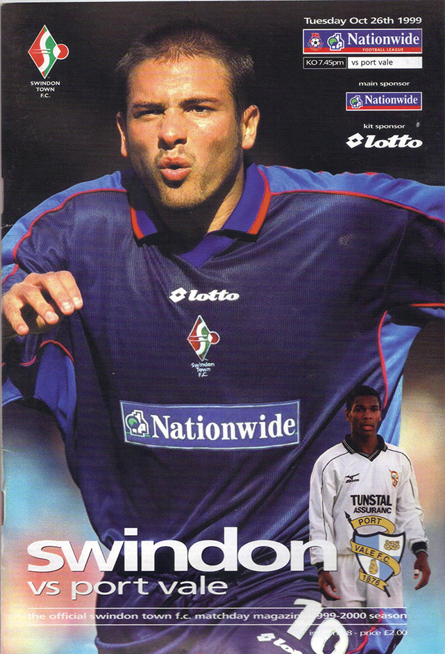 Tuesday, October 26, 1999 - vs. Port Vale (Home)