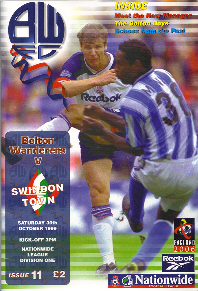Saturday, October 30, 1999 - vs. Bolton Wanderers (Away)