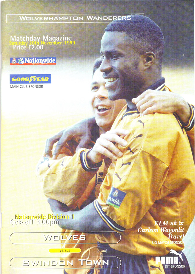 Saturday, November 20, 1999 - vs. Wolverhampton Wanderers (Away)