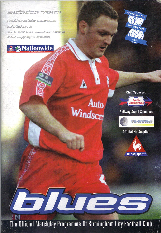 Saturday, November 27, 1999 - vs. Birmingham City (Away)