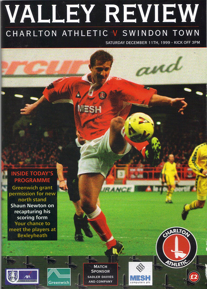 Saturday, December 11, 1999 - vs. Charlton Athletic (Away)