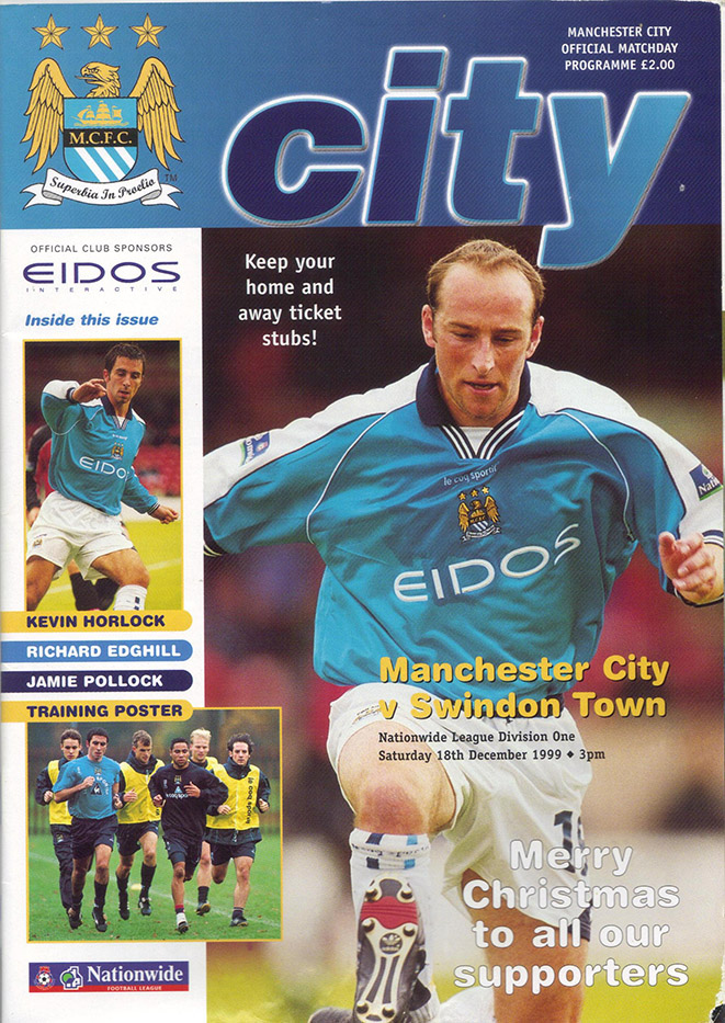 Saturday, December 18, 1999 - vs. Manchester City (Away)