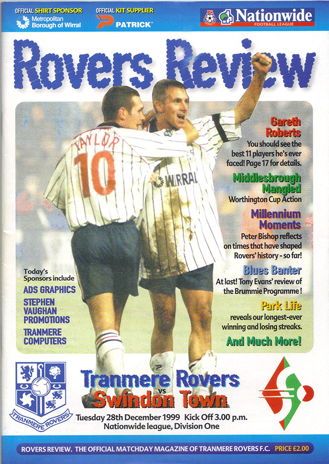 Tuesday, December 28, 1999 - vs. Tranmere Rovers (Away)