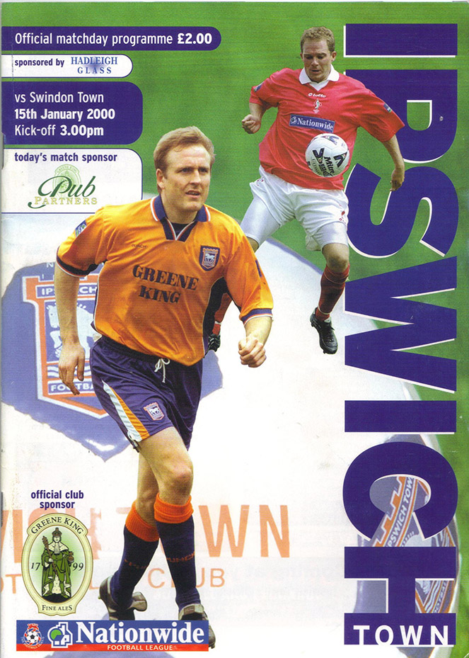 Saturday, January 15, 2000 - vs. Ipswich Town (Away)