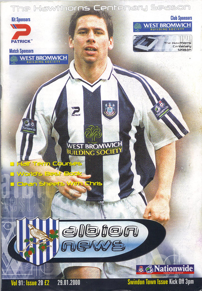 Saturday, January 29, 2000 - vs. West Bromwich Albion (Away)