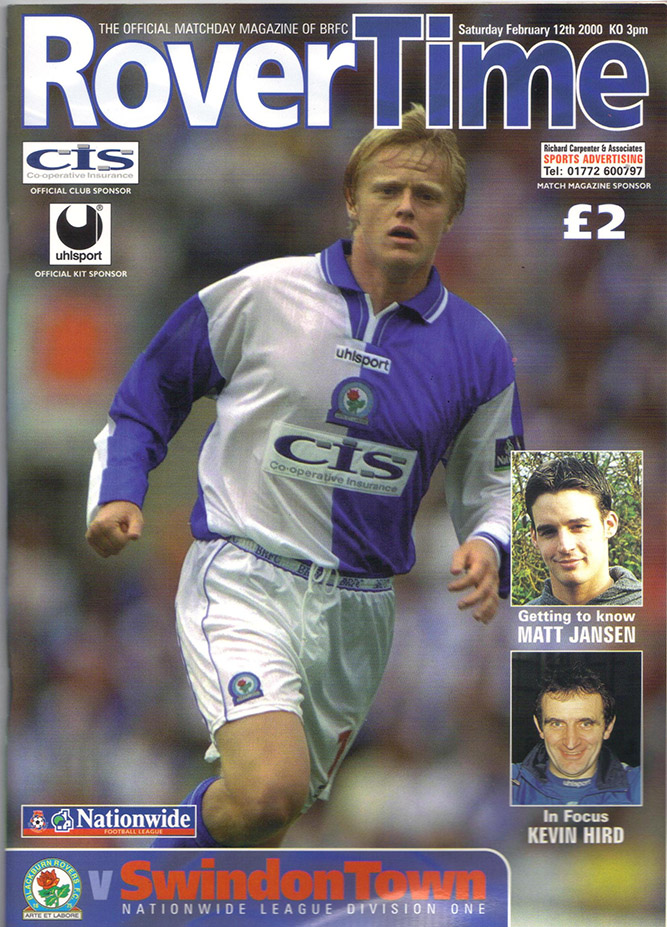 Saturday, February 12, 2000 - vs. Blackburn Rovers (Away)