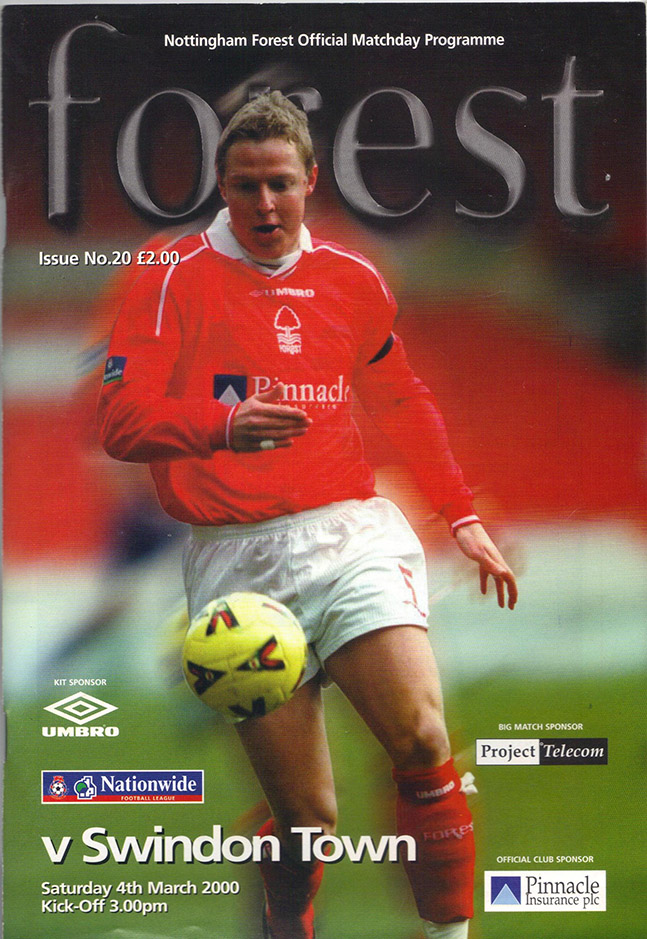 Saturday, March 4, 2000 - vs. Nottingham Forest (Away)