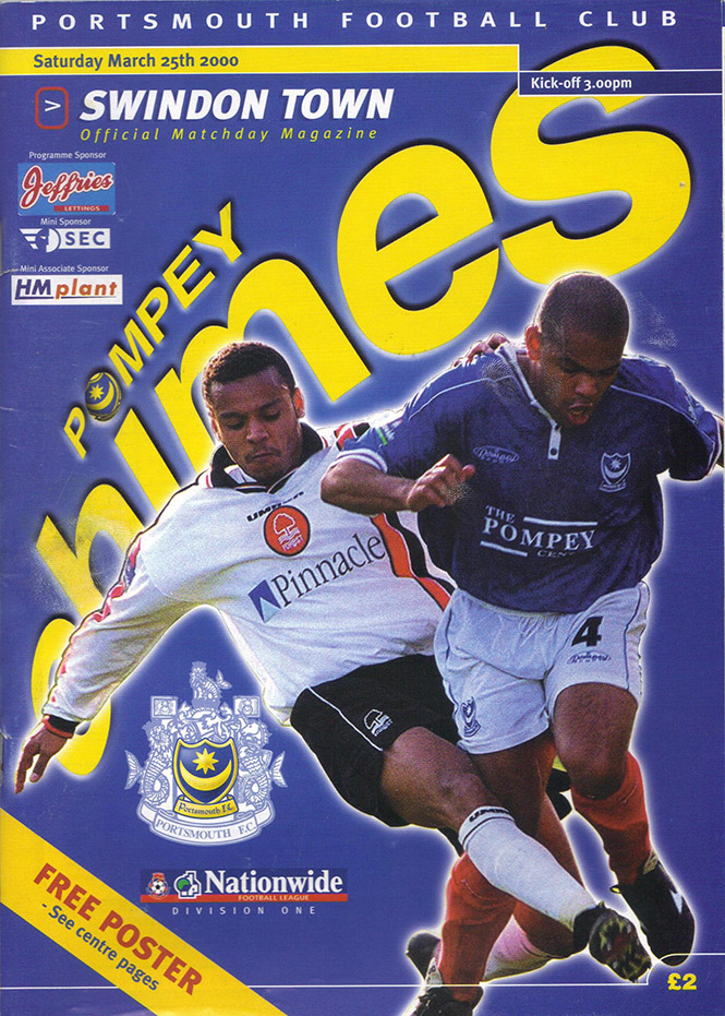 Saturday, March 25, 2000 - vs. Portsmouth (Away)