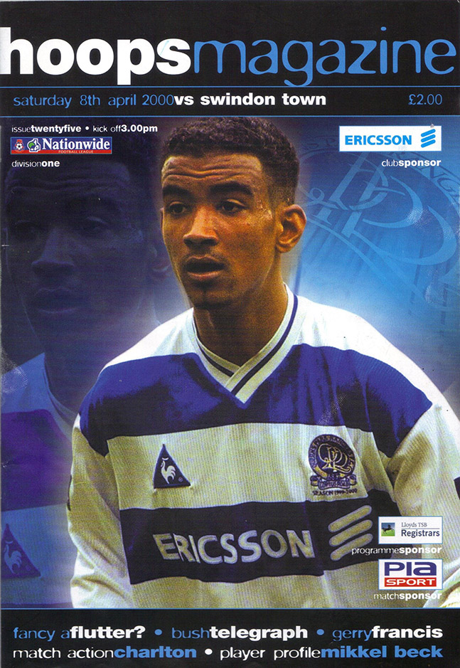 Saturday, April 8, 2000 - vs. Queens Park Rangers (Away)