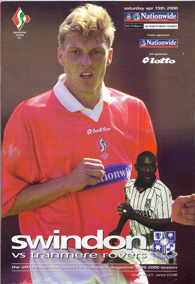Saturday, April 15, 2000 - vs. Tranmere Rovers (Home)