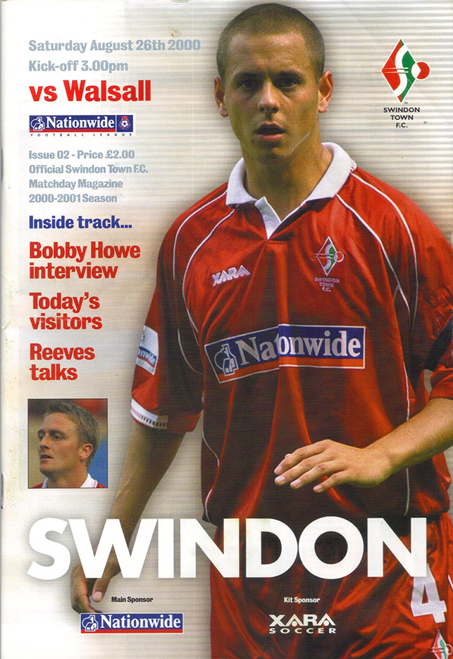 Saturday, August 26, 2000 - vs. Walsall (Home)