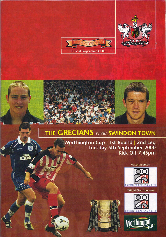 Wednesday, September 6, 2000 - vs. Exeter City (Away)