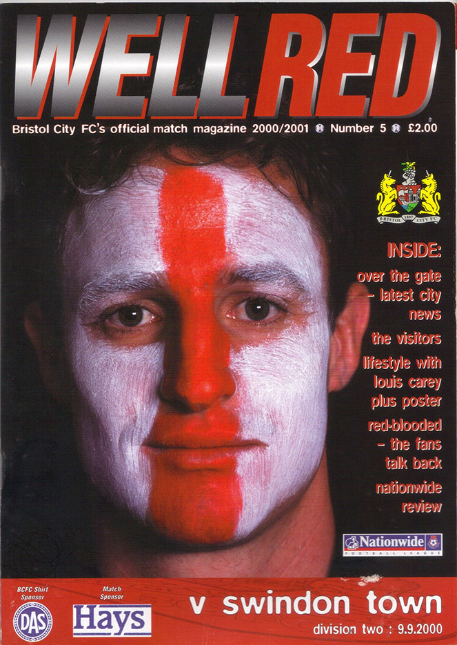 Saturday, September 9, 2000 - vs. Bristol City (Away)