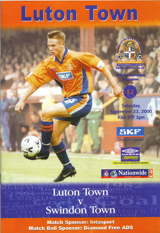 Saturday, September 23, 2000 - vs. Luton Town (Away)