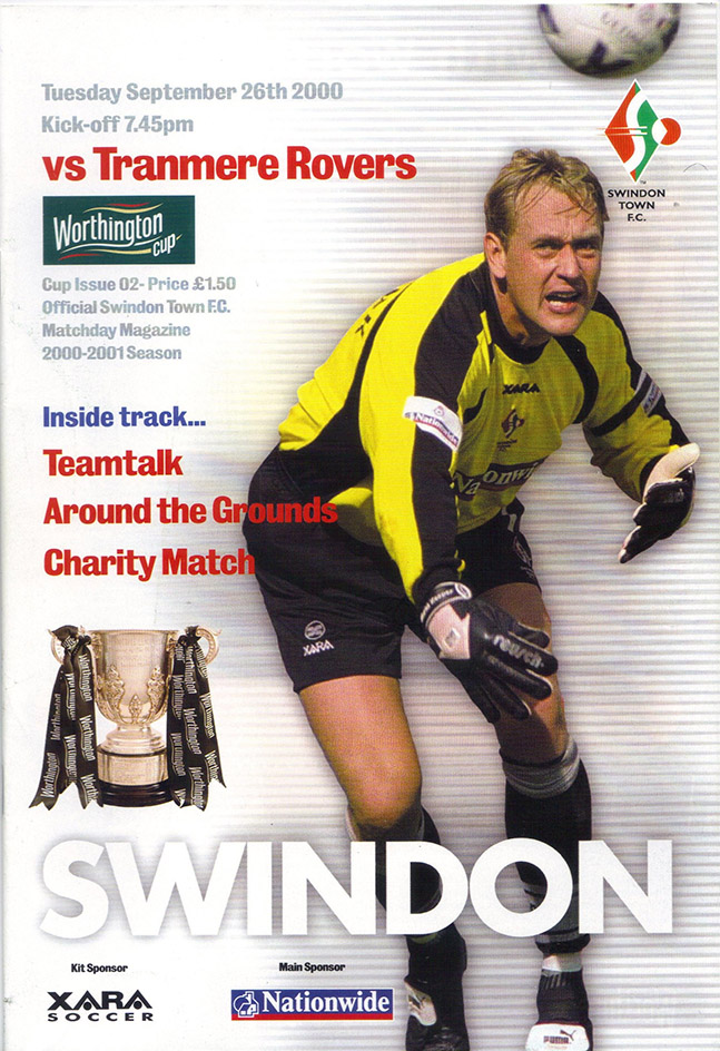 Tuesday, September 26, 2000 - vs. Tranmere Rovers (Home)