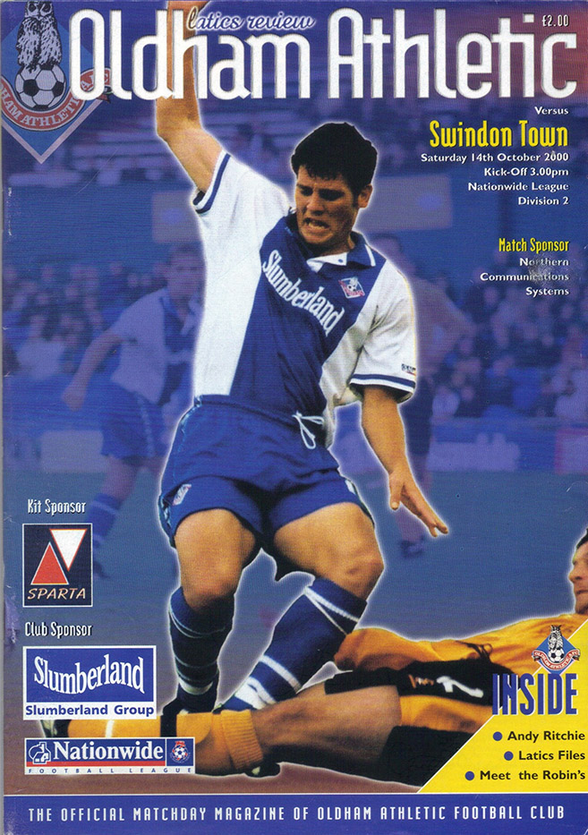 Saturday, October 14, 2000 - vs. Oldham Athletic (Away)