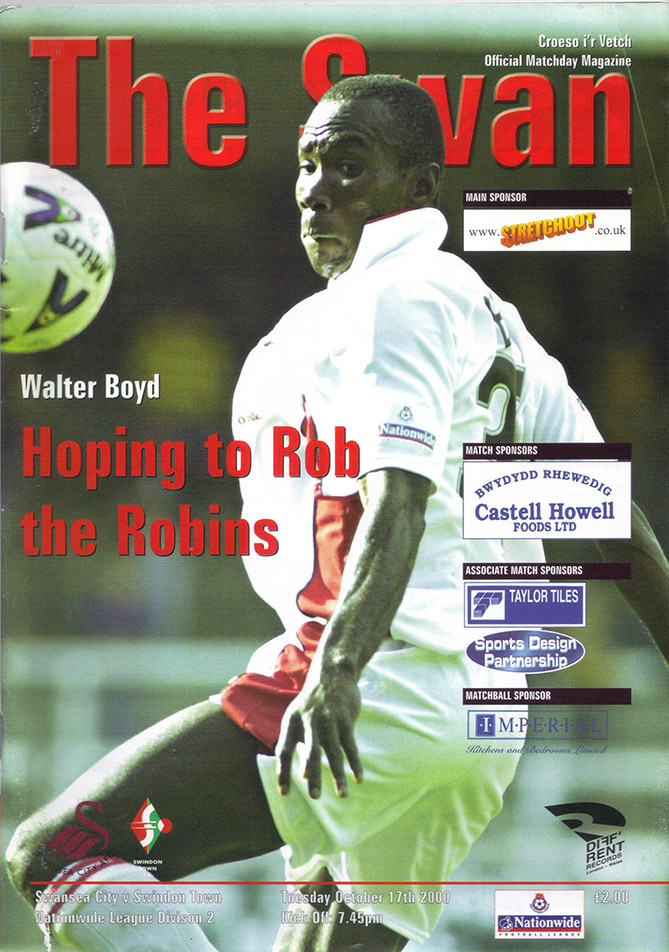 Tuesday, October 17, 2000 - vs. Swansea City (Away)