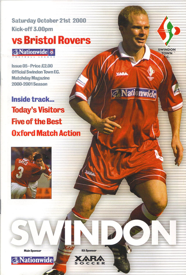 Saturday, October 21, 2000 - vs. Bristol Rovers (Home)