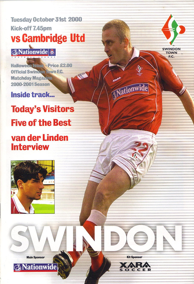 Tuesday, October 31, 2000 - vs. Cambridge United (Home)
