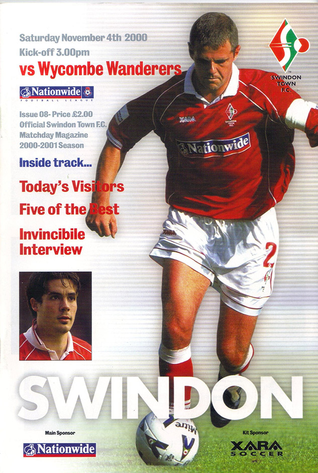 Saturday, November 4, 2000 - vs. Wycombe Wanderers (Home)