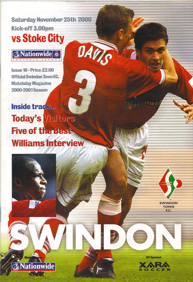 Saturday, November 25, 2000 - vs. Stoke City (Home)