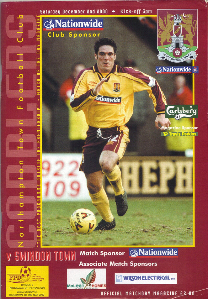 Saturday, December 2, 2000 - vs. Northampton Town (Away)