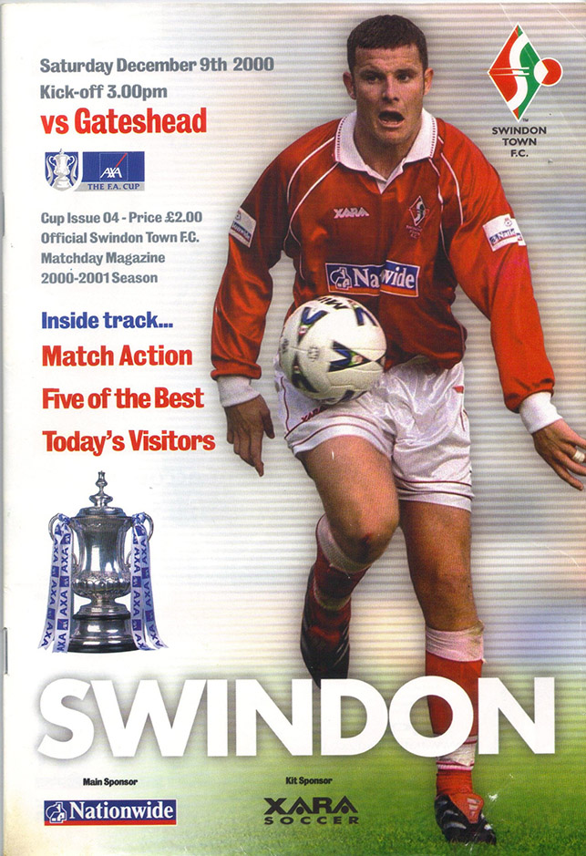 Saturday, December 9, 2000 - vs. Gateshead (Home)