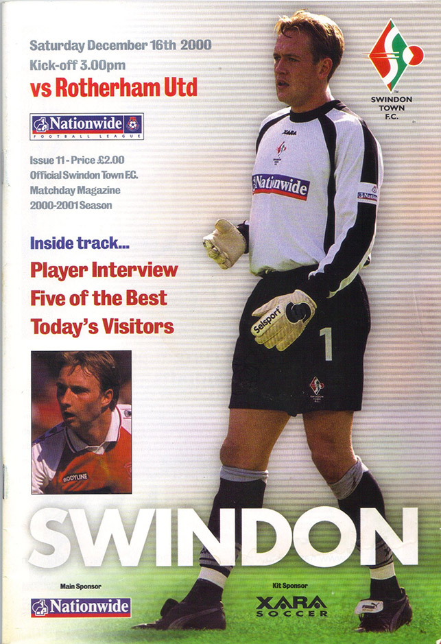 Saturday, December 16, 2000 - vs. Rotherham United (Home)