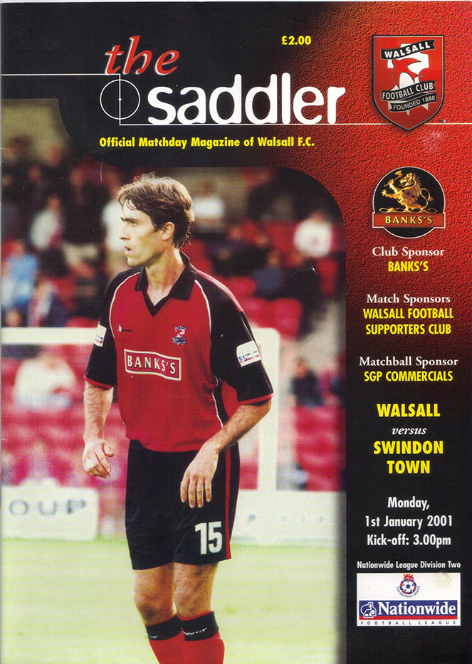 Monday, January 1, 2001 - vs. Walsall (Away)