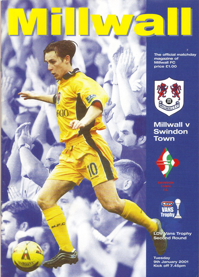 Tuesday, January 9, 2001 - vs. Millwall (Away)