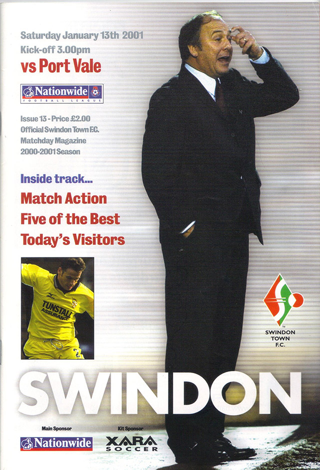 Saturday, January 13, 2001 - vs. Port Vale (Home)