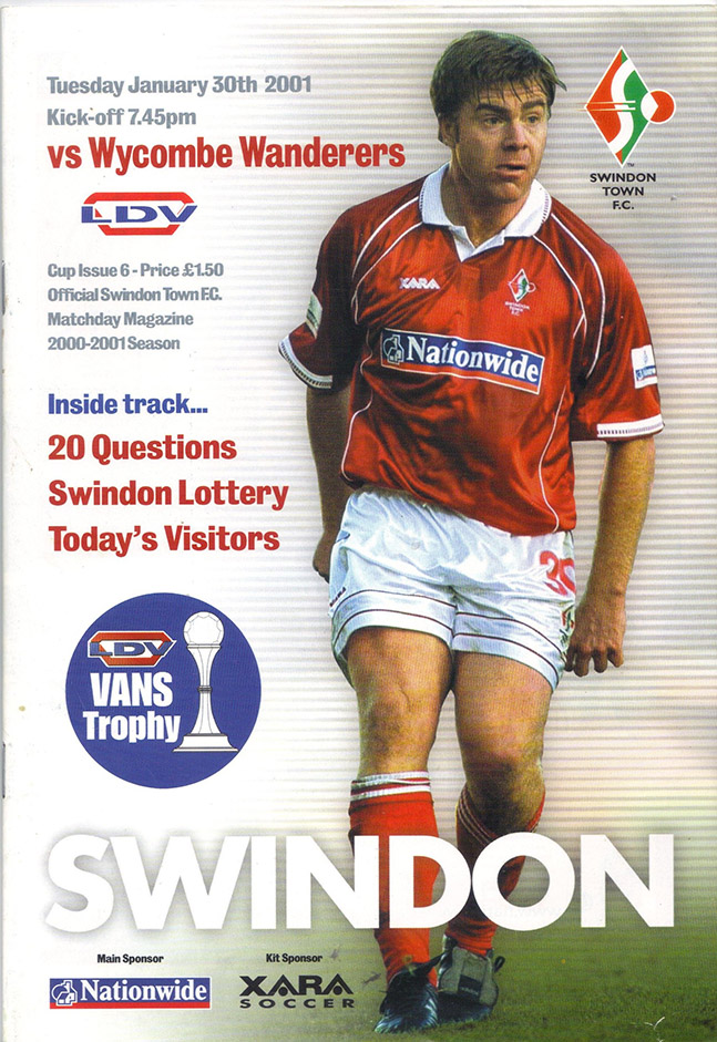 Tuesday, January 30, 2001 - vs. Wycombe Wanderers (Home)