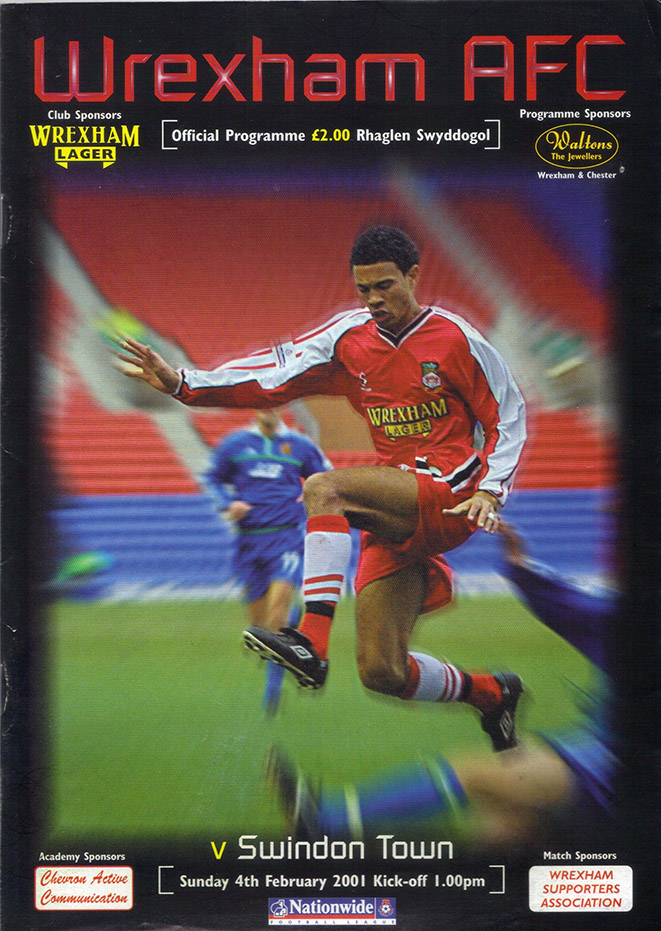 Saturday, February 3, 2001 - vs. Wrexham (Away)