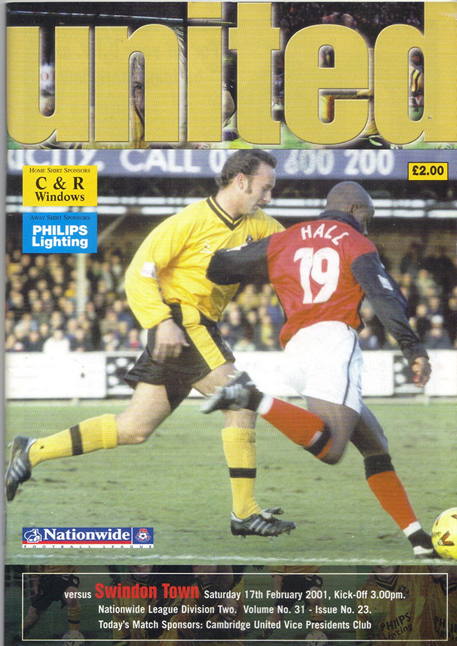 Saturday, February 17, 2001 - vs. Cambridge United (Away)
